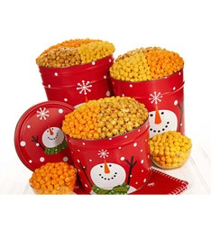 Wintry Wonder 3 Flavor Popcorn Tin