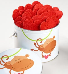Monkey Love Heart Cookies