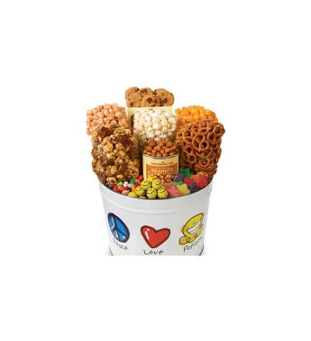 Peace Love & Popcorn Snack Assortment Tins