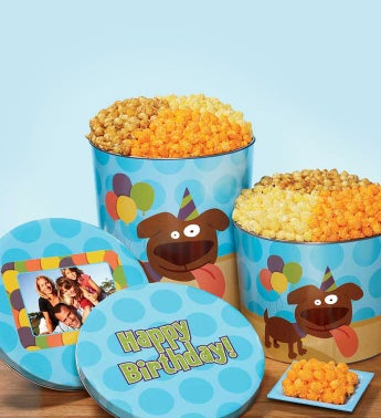 Party Pup Popcorn Tins