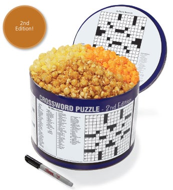 Crossword 2 Gallon 3-Flavor Popcorn Tins