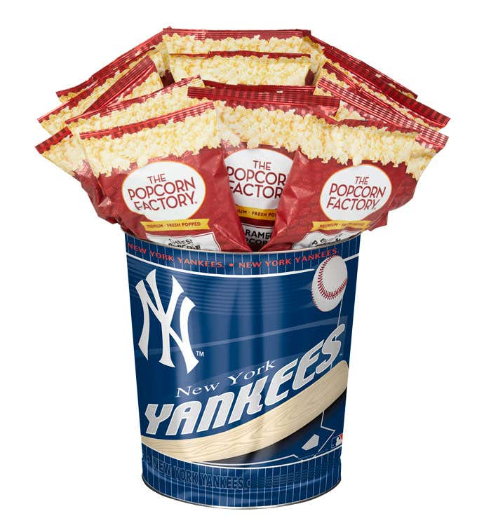 New York Yankees 3-Flavor Popcorn Tins