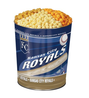 Kansas City Royals 3-Flavor Popcorn Tins