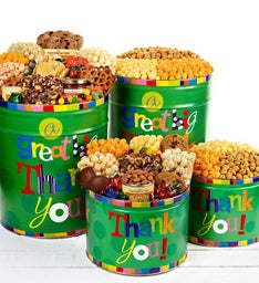 Great Big Thank You Popcorn & Snack Tins