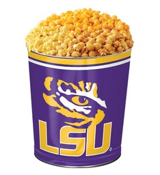 3 Gallon Louisiana State University 3-Flavor Popcorn Tins