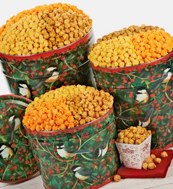 Winter Song Popcorn Tins