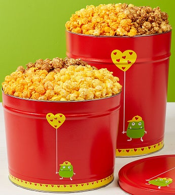 Valentine Monster Popcorn Tins