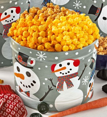 2 Gallon Snowtime Popcorn Tin