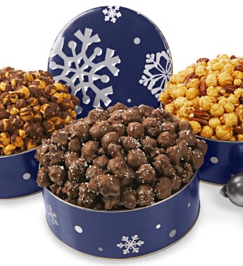 Snowy Night Speciality Popcorn Tins