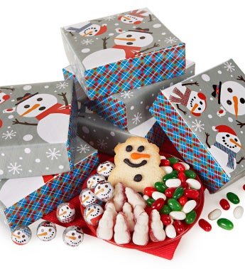 Set of Six Snowtime Treat Boxes
