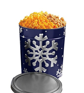 Snowy Night Popcorn Tin
