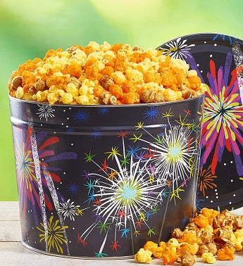 Fireworks Popcorn Tin & Snack Assortment