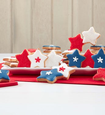 Patriotic Fancy Decorated Cookies