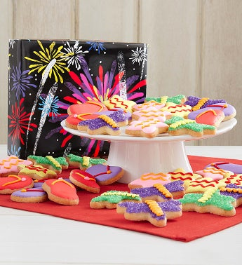Fireworks Fancy Decorated Cookies