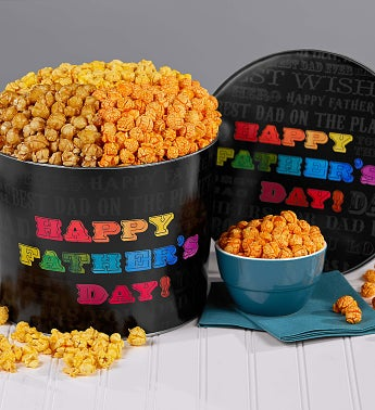 Say it in Color Father's Day Popcorn Tin