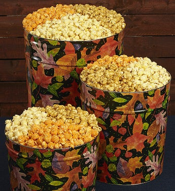 Fall Colors Popcorn Tins