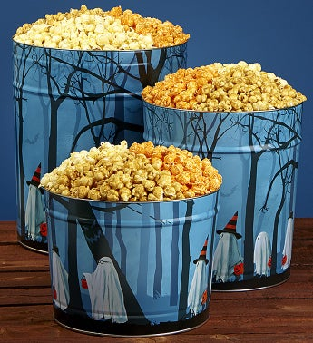 Trick or Trees Popcorn Tins