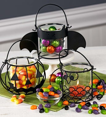 Halloween Votives with Candy