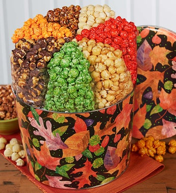 Fall Colors 7-Flavor Popcorn Tin