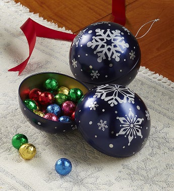 Candy Filled Ornament Ball