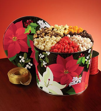 Winter Floral 7-Flavor Popcorn Tin