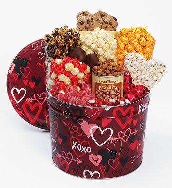 Graffiti Hearts Snack Assortment