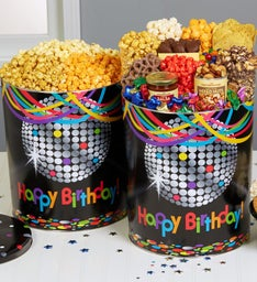 Birthday Glitz 6 1/2 Gallon Popcorn & Deluxe Snack Assortment