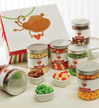 Monkey Love Six Canister Gift Set