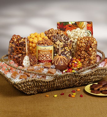 Autumn Falling Harvest Basket