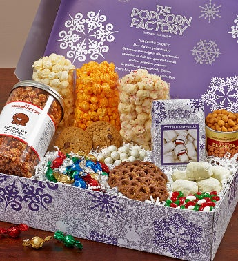 Snowflake Snacker's Choice Gift Box