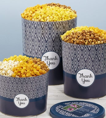 Simply Stated™ Thank You Popcorn Tins