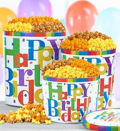 Big Happy Birthday 6-1/2 Gallon Popcorn Tins