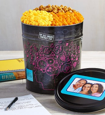 Up All Night Popcorn Tin