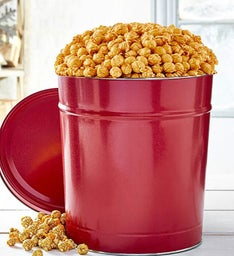 6-1/2 Gallon Simply Red Pick-A-Flavor Popcorn Tins