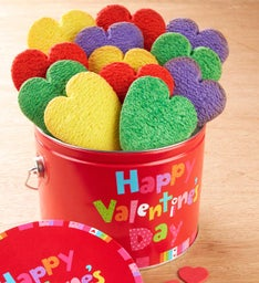 Happy Valentine's Day Butter Cookie Pail