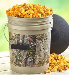 RealTree APG Camo Popcorn Bucket with Seat Lid