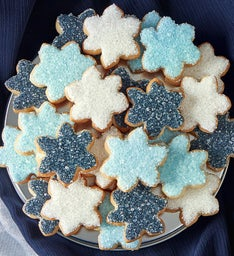 Snowflake Fancy Decorated Cookies