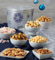 Silver Snowflake Snack Assortment