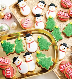 Snowman Fancy Decorated Cookies (red box)