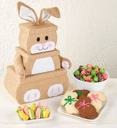 Bunny Burlap Tower
