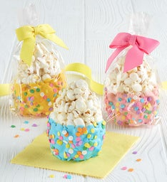Set of 3 Dipped Popcorn Eggs
