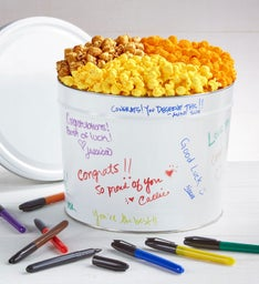 Decorate Your Own Popcorn Tins