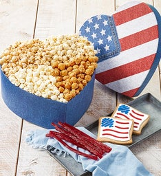 Heart Shaped Flag Box