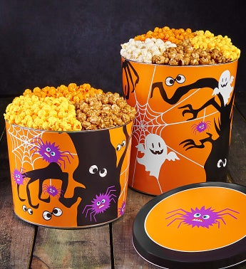 Spooky Spider Popcorn Tins
