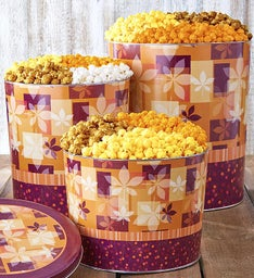 Fall Splendor Popcorn Tins