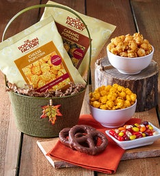 Autumn Burlap Basket
