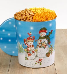 Starlight Snowman 3 1/2 Gallon Popcorn Tin