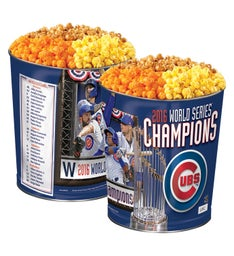 Chicago Cubs Commemorative World Series Popcorn Tin