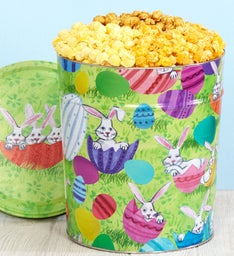 3 1/2 Gallon Bunny Patch 3-Flavor Popcorn Tin