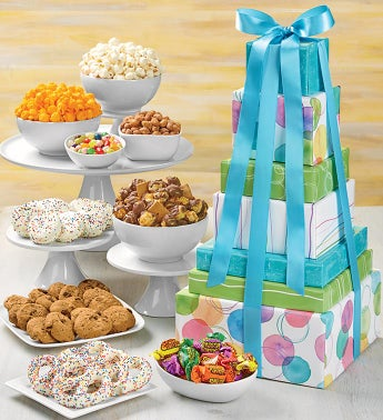 Say It With Dots Classic 7 Gift Box Tower